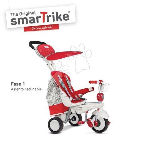 Trojkolky smarTrike - Trojkolka Dazzle 5v1 Red&White Touch Steering smarTrike červeno-šedá od 10 mes