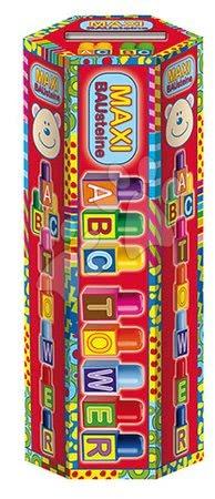 Dohány építőkockák - Játékkockák ABC torony Maxi Blocks Dohány 40 darabos 18 hó-tól