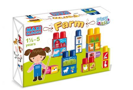 Építőjáték kockák Maxi Farm Dohány 18 hó-tól