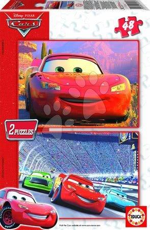Puzzle Autá Educa 2x48 dielov