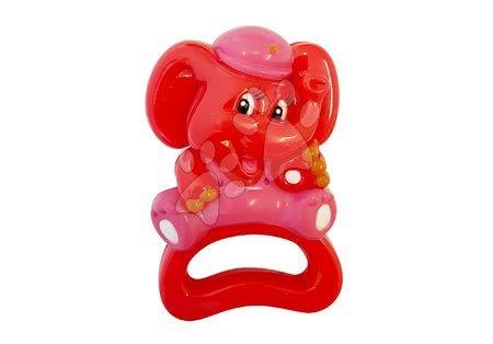 Hračky pro nejmenší - TIMBO červený slon chrastítko do ruky