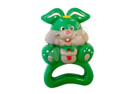 Hračky pro nejmenší - TIMBO zelený zajíček chrastítko do ruky