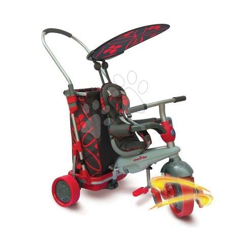 Trojkolka smarTrike&Go Touch Steering s nákupným vozíkom od 10 mesiacov čierno-červená