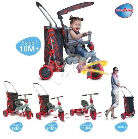 smarTrike - Trojkolka Go Touch Steering smarTrike s nákupným vozíkom čierno-červená od 10 mes_1