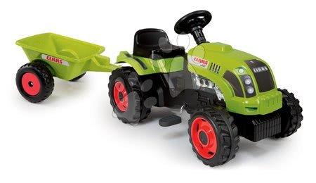 Claas - Traktor na šlapání Claas GM Smoby s přívěsem zelený