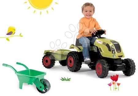 Claas - Set traktor šlapací Claas Farmer XL Žába Smoby s přívěsem a kolečko