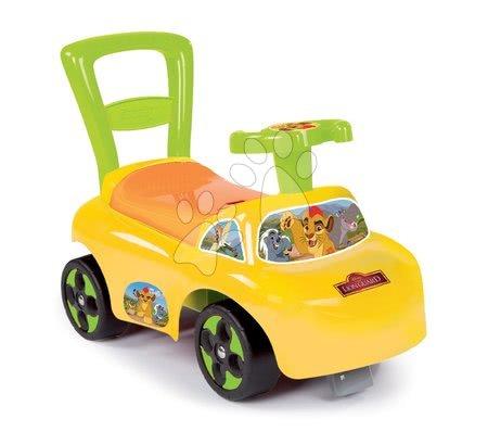 Odrážadlo a chodítko Levia hliadka Auto 2v1 Smoby žlté od 10 mes