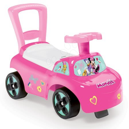Minnie Mouse - Odrážedlo a chodítko Minnie Disney Smoby s opěrkou a úložným prostorem růžové od 10 měsíců