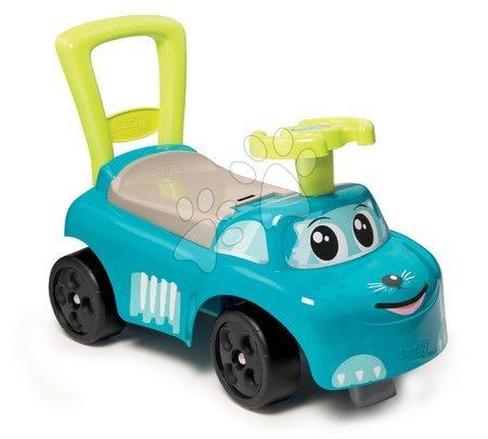Odrážadlá od 10 mesiacov - Odrážadlo a chodítko Auto Blue Ride-on Smoby s úložným priestorom a opierkou modré od 10 mes