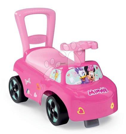 Minnie Mouse - Odrážedlo a chodítko Minnie Disney Smoby s opěrkou a úložným prostorem od 10 měsíců růžové