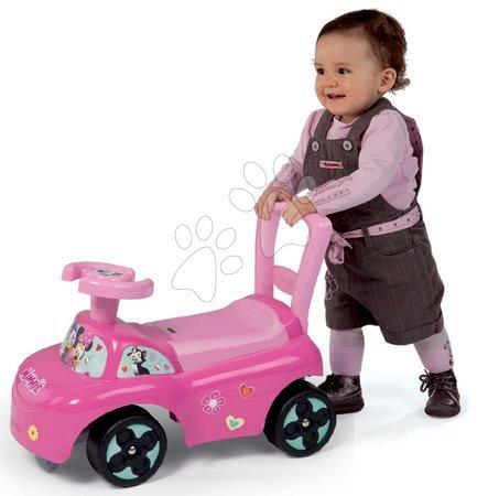 Odrážadlo a chodítko Minnie Disney Smoby s opierkou a úložným piestorom ružové od 10 mesiacov 54*27*40 cm SM720522