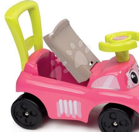 Dětská chodítka - Odrážedlo a chodítko Auto Fille 2v1 Smoby růžové od 10 měsíců_1