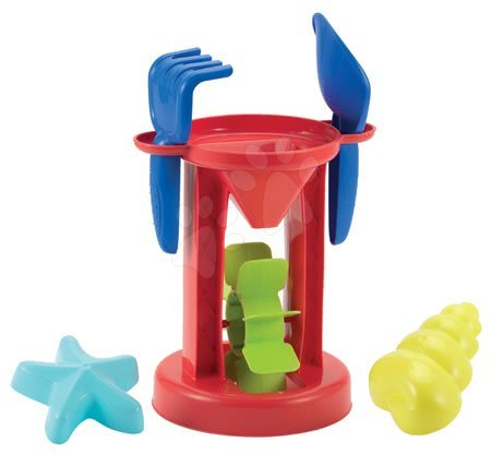 Modelčki za pesek - Mlin z modelčki Écoiffier 5 delov (višina 27 cm) od 18 mes