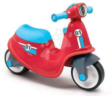 Guralice za djecu od 18 mjeseci - Guralica motocikl s reflektorom Scooter Red Smoby crvena s gumenim kotačima