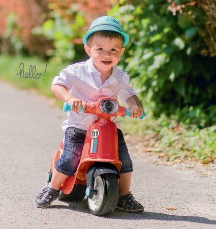 Guralice za djecu od 18 mjeseci - Guralica motocikl s reflektorom Scooter Red Smoby crvena s gumenim kotačima_1