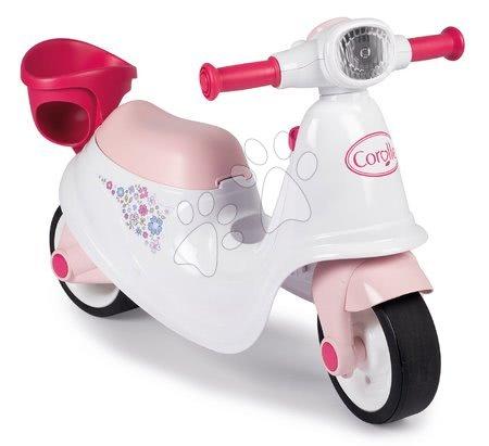 Guralice za djecu od 18 mjeseci - Guralica motocikl s košaricom Corolle Scooter Smoby s gumenim kotačima, spremištem i mehaničkim ključem od 18 mjeseci