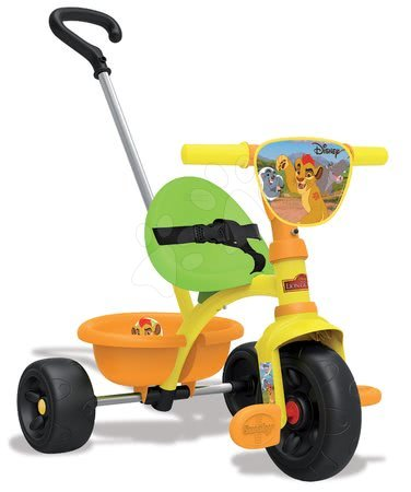 Trojkolka pre deti Levia hliadka Be Move Smoby s vodiacou tyčou od 15 mesiacov oranžovo-zelená