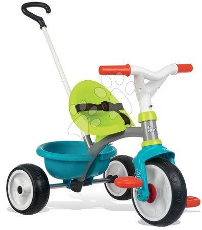 Tricikel Be Move Blue Smoby z EVA gumiranimi kolesi in prostim tekom moder