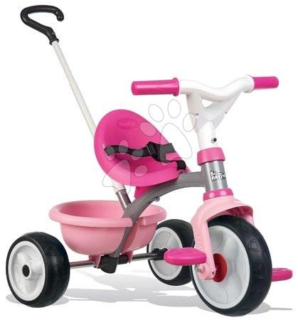 Trojkolky od 15 mesiacov - Trojkolka Be Move Pink Smoby s EVA gumenými kolesami a voľnobehom ružová od 15 mes