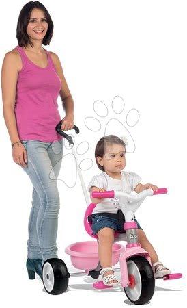 Tricikel Be Move Pink Smoby z EVA gumiranimi kolesi in prostim tekom rožnat