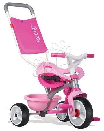 Tříkolka Be Move Confort Rose Smoby s EVA kolečky růžovo-šedá od 10 měsíců