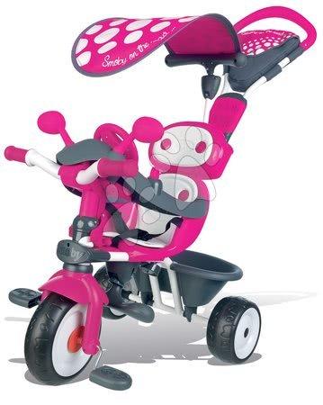 Trojkolka Baby Driver Smoby so strieškou od 10 mesiacov ružovo-šedá