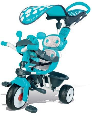 Trojkolka Baby Driver Smoby so strieškou od 10 mesiacov modro-šedá