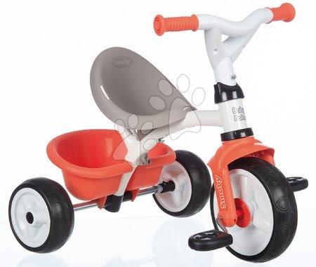 Tříkolky - Tříkolka s vysokou opěrkou Baby Balade Tricycle Red Smoby se slunečníkem a EVA koly červená od 10 měsíců_1