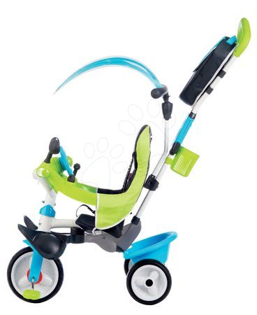 Akce - Tříkolka s potahem Baby Driver Comfort Blue Smoby s EVA kolečky a intuitivním ovládáním modrá_1