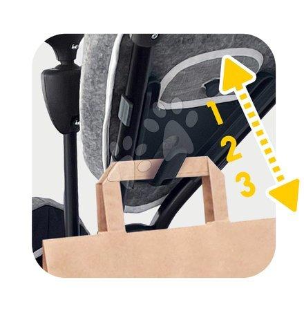 Tříkolky - Tříkolka a kočárek v jednom s brzdou Baby Driver Plus Grey Smoby s EVA koly a intuitivním ovládáním šedá od 10 měsíců_1