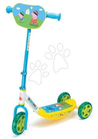 Peppa Pig - Roller Peppa Pig Disney Smoby háromkerekű, állítható kormánnyal 67/70 cm csúszásmentes