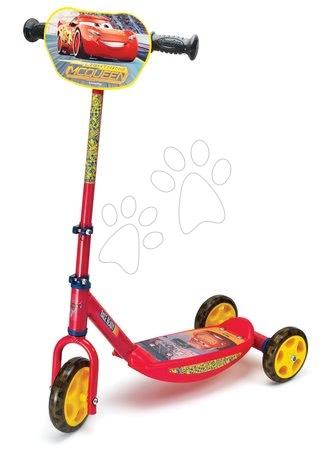 Trotinete - Trotinetă cu trei roţi Disney Cars 3 Smoby cu ghidon reglabil roşu