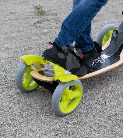 Trotinete - Trotinetă din lemn cu patru roţi Wooden Scooter Smoby cu ghidare intuitivă şi cu înălţime reglabilă de la vârsta de 5 ani_1