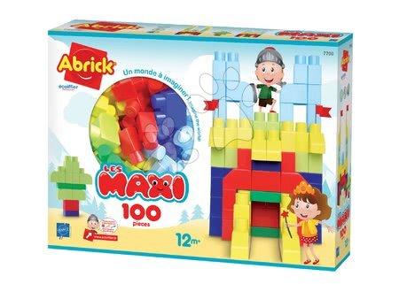 Razvoj čutov in motorike - Kocke za malčke Les Maxi Écoiffier 100 kock od 12 mes