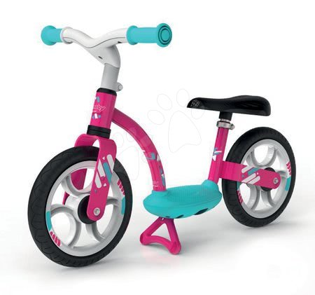 Guralice za djecu od 18 mjeseci - Balansna guralica Balance Bike Comfort Pink Smoby s metalnom konstrukcijom i podesivom visinom sjedala od 24 mjeseca