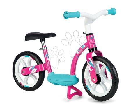 Balanční odrážedlo Balance Bike Comfort Pink Smoby s kovovou konstrukcí a výškově nastavitelným sedadlem od 24 měsíců