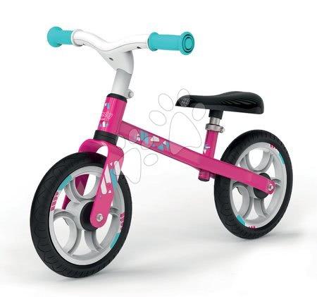 Balanční odrážedlo First Bike Pink Smoby s kovovou konstrukcí a nastavitelným sedadlem od 24 měsíců