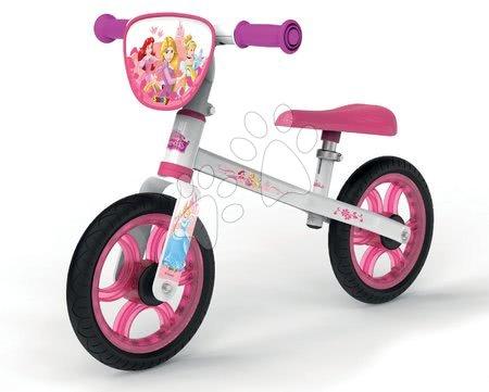 Princese - Balansna guralica Disney Princess First Bike Smoby s metalnom konstrukcijom i prilagodljivim sjedalom od 24 mjeseca