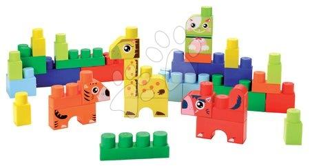 Razvoj čutov in motorike - Otroške kocke Maxi Abrick Živalce Écoiffier moder zaboj 50 delov od 12 mes_1