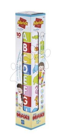 Razvoj čutov in motorike - Kocke za dojenčke Les Maxi Tower Écoiffier 10 kock s sličicami črk in številk od 12 mes_1