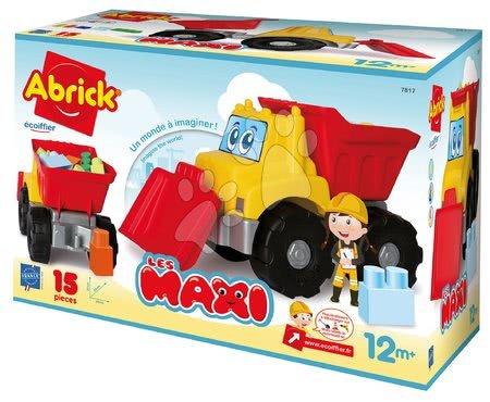 Stavebnice Abrick v aute Les Maxi Écoiffier 15 kusů kostek od 12 měsíců
