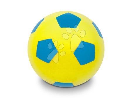 Labdák - Focilabda habszivacsból Soft Fluo Ball Mondo sárga 20 cm 24 hó-tól