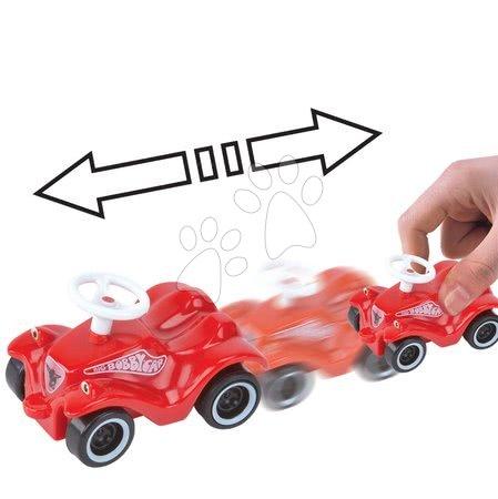 Autíčka - Autíčko Mini Bobby Classic BIG na naťahovanie dĺžka 8 cm červené od 12 mes