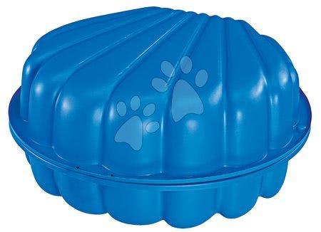 Nisipare pentru copii - Nisipar Scoică BIG din două părţi volum de 2*100 litri 88*88 cm albastru de la 18 luni