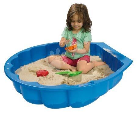 Nisipare pentru copii - Nisipar scoică Watershell Blue Big pentru apă și nisip 100 litri albastru 88*88*21 cm de la 12 luni