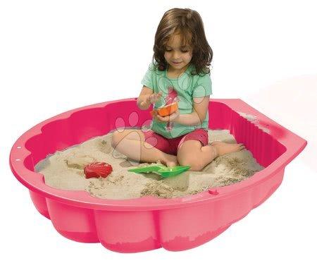 Nisipare pentru copii - Nisipar scoică Watershell Pink BIG pentru apă și nisip 100 litri roz 88*88*21 cm de la 12 luni