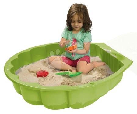 Nisipare pentru copii - Nisipar scoică Watershell Green BIG pentru apă și nisip 100 litri verde 88*88*21 cm de la 12 luni