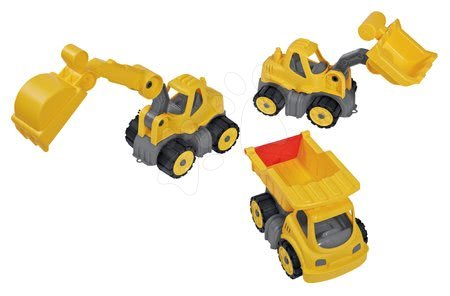 Kültéri játékok - Szett munkásgépek homokozóba BIG teherautó, markoló és homlokmarkoló 24 hó-tól