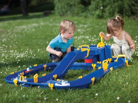 Vodní dráhy - Vodní hra Waterplay Niagara BIG skládací s lodičkami modrá_1