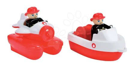 Komplet 2 brodića Waterplay BIG vatrogasni dužina 15,5 cm crveni